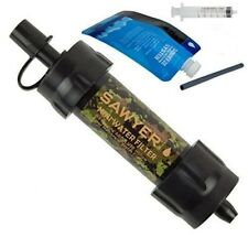 Camouflag - SP107 SAWYER MINI WATER FILTER System Hiking Camping 16 oz Pouch!