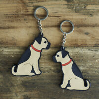 Cute BORDER TERRIER Dog Keyring, Novelty Gift, PVC Key Ring, Bag Charm, FREE P&P
