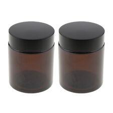 2 pcs 100g Marron Verre Vide Pot Maquillage Bocaux Pour Le Visage Crème