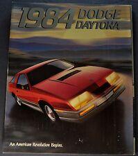 1984 Dodge Daytona Catalog Sales Brochure Turbo Z Nice Original 84