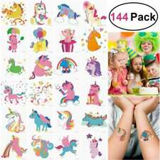 Unomor 144PC Unicorn Temporary Tattoos For Kids Girls Unicorn Party Supplies