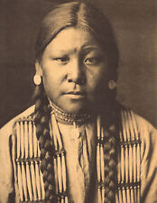 "EDWARD CURTIS Indian Tribe ""CHEYENNE GIRL"" Native American Photo Book Print"