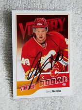 Calgary Flames Greg Nemisz Signed 11/12 UD Victory Rookie Card