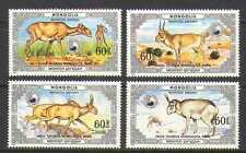 Mongolia 1986 Saiga Antelope/Wildlife 4v set (n22107)