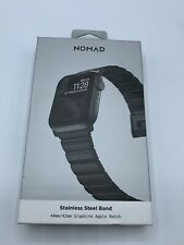 NOMAD Stainless Steel Watch Band 44mm 42mm for  Apple 1 - 5 Graphite