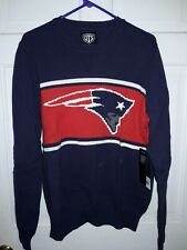New England Patriots football pullover Sweater Shirt NFL Team apparel Pats - L