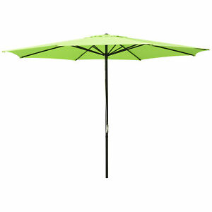 Lime Green Outdoor Patio Umbrella Aluminum 8ft 9ft 10ft 13ft Beach Garden Shade