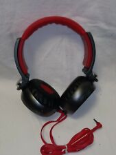 SONY MDR-X05 STEREO HEADPHONES OVER THE EAR RED & GRAY  *SEE PICS*