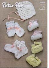 Peter PAN P1255 4PLY Crochet Sombrero/Guantes y botas patrón-no las prendas terminadas