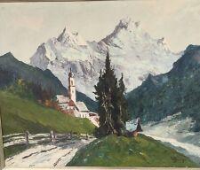 Originales Gemälde Ramsauer Kapelle signiert W. Jäger/Jünger ??..