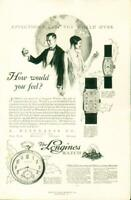 Advertising A. Wittnauer Co. The Longines Watch Gold Filled 14Kt. 18Kt. 1926