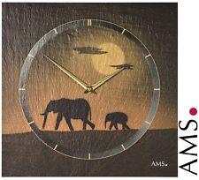 AMS 47 quartz Horloge murale schieferuhr elefantenuhr de bureau salle travail