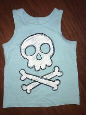 CIRCO 3t Skull Cross Bones Toddler Boy Tank Top Shirt Blue Aqua Turquoise Target