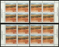 CANADA #863 17¢ Saskatchewan Matched Set Inscription Blocks MNH