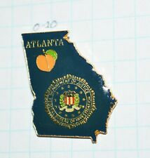 "FBI ATLANTA GEORGIA DIVISION ORANGE FRUIT POLICE 1.25"" LAPEL PIN"