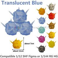 Tamashii Effect Explosion Blue & Stand Holder Fit SHF Figma 1/144 Gundam Model