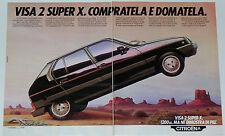 Advert Pubblicità 1981 CITROEN VISA 2 SUPER X