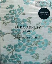 "LAURA ASHLEY Iona Jacquard Duck Egg pencil pleat curtains W64"" x L54"" RRP £145"
