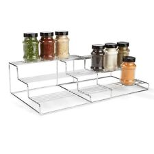 Chrome Extendable Shelf Kitchen Organiser Pantry Bathroom Storage Rack Can Home