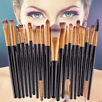 20pcs Kabuki Makeup Brush Set Cosmetic Contour Foundation Blusher Face Powder UK