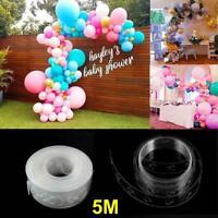 5M DIY Balloon Chain Tape Arch Connect Strip Wedding Birthday Party Ballon Clip