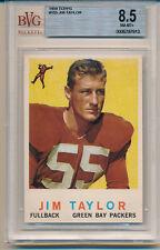1959 Topps Football Jim Taylor (Rookie Card) (HOF) (#155) BVG8.5 BVG