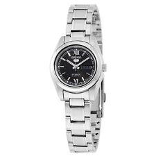 Seiko 5 Automatic Black Dial Stainless Steel Ladies Watch SYMK27K1S