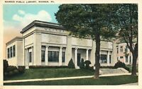 WARREN PA PUBLIC LIBRARY ANTIQUE POSTCARD