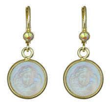 Kirks Folly ORIGINAL GLASS DREAM ANGEL LEVERBACK EARRINGS  goldtone
