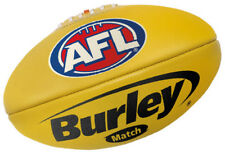 """AFL BURLEY """"MATCH"""" SIZE 4 YELLOW LEATHER FOOTBALL - BRAND NEW"""