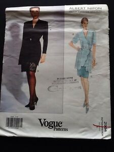 Vogue Designer Pattern # 2994 Albert Nipon Size 10 Uncut From 1992