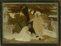 Exceptional Early 19th Century Silkwork - Classical Scene