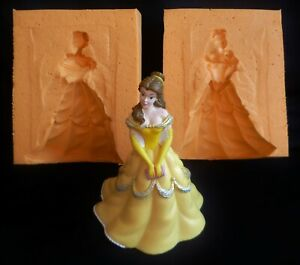 3D BEAUTY FROM BEAUTY AND THE BEAST SILICONE MOULD FOR CAKE TOPPERS CHOCOLATE