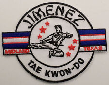 Martial Arts Embroidered Sew On Uniform Patch Jimenez Tae Kwon Do