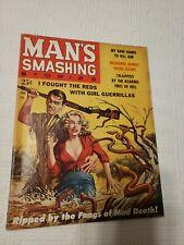 Man's Smashing Stories Magazine, 1959 June,  #1, Nazi, torture, GGA, pulp,