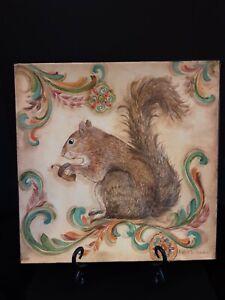 Decorative Squirrel Plate Square Kate Miller McRostie