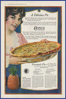 Vintage 1919 CRISCO Shortening Baking Pineapple Pie Dessert Ephemera Print Ad