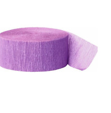 Crepe Paper, for Party and Birthday Decoration  (Pack of 4) Lilac Colour.