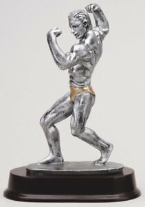 MALE BODY BUILDER  BUILDING SCULPTURE AWARD TROPHY FREE ENGRAVING MRF1012SG
