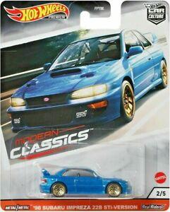 Hot Wheels Premium Modern Classics 98 Subaru Impreza 22B STI WRX