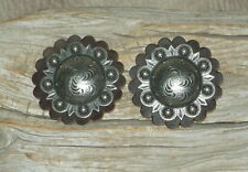 "New 1.5"" Old Silver Berry Conchos For Belts, Spur Straps, Saddle Bags...  G&E"