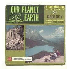 vintage GAF View Master OUR PLANET EARTH reels GEOLOGY fossils SCIENCE  yosemite