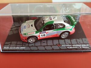 COCHE 1/43, ALTAYA, MODELO MITSUBISHI ACCENT WRC2 RALLY AUSTRALIA 2001.