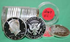2009 S 90% SILVER Proof KENNEDY Half Dollar Roll 20 Coins