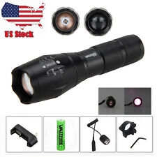 US IR 940nm Night Vision Infrared LED Zoom Torch Rifle Scope Mount+Remote Switch
