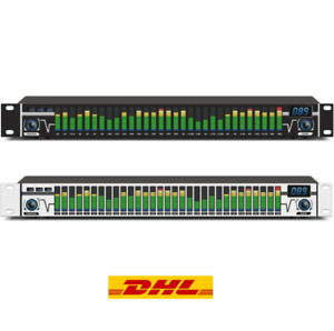 Dual 31 Bands Audio Digital Equalizer de audio Professional with LED spectrum