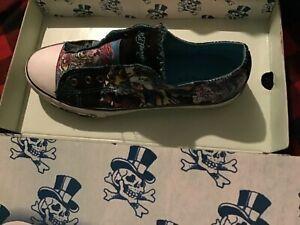 Ed Hardy Mens Classic Low Rise Roaring Tiger Laceless Shoes US 9 EU 42