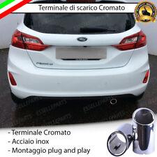TERMINALE DI SCARICO SINGOLO PER MARMITTA TONDO CROMATO INOX FORD FIESTA 7 VII
