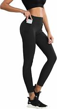 XMLMRY Women High Waisted Yoga Pants Leggings with Pockets Sports Running Athlet