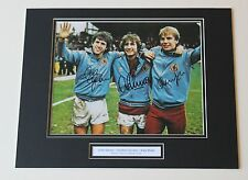 Gibson Cowans Shaw Aston Villa HAND SIGNED Autograph Photo Mount + COA Proof